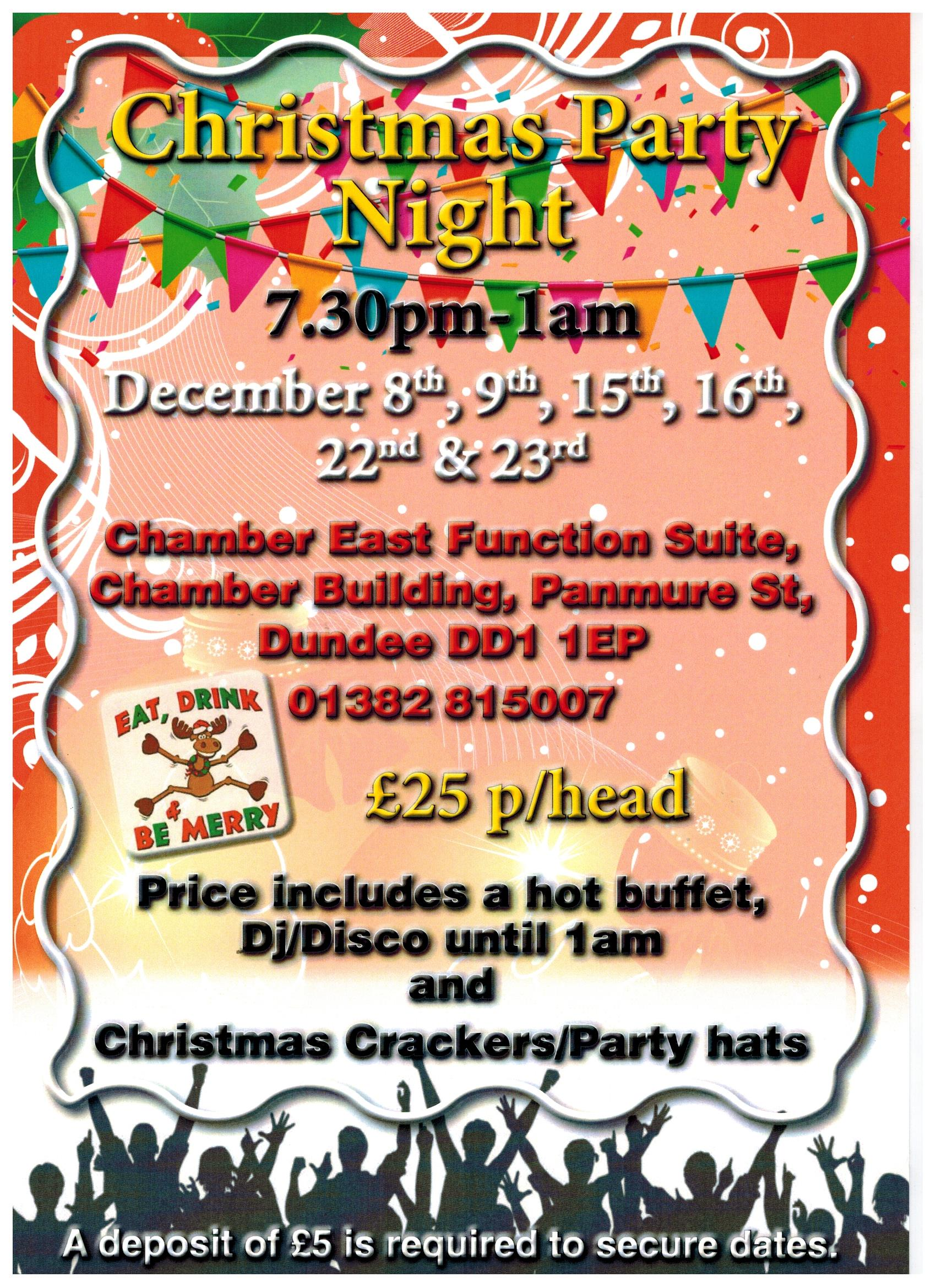 Christmas party nights at Chamber East